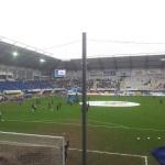 Blick in die Benteler Arena vor dem Spiel.