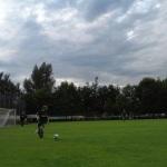 Szene im Testspiel zwischen Heide Paderborn und Preußen Münster.