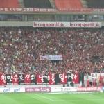Blick auf die FC Seoul Supporters im heimischen Seoul World Cup Stadium.