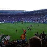 Der SC Paderborn 07 zu Gast in Bielefeld. Blick aus dem Gästeblock.