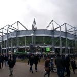 Blick auf das Fußballstadion in Mönchengladbach