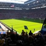 Blick ins Düsseldorfer Stadion aus dem Gästeblock