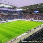 Blick in die Red Bull Arena beim Spiel zwischen SC Paderborn und RB Leipzig