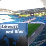 Blog-Aufkleber in der Red Bull Arena