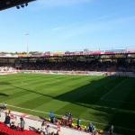 Spielfeld Alte Försterei beim Spiel zwischen Union Berlin und SC Paderborn 07
