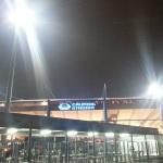 Grundig-Stadion am Freitag Abend von außen