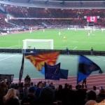 Blick aus dem Gästeblock ins Nürnberger Stadion