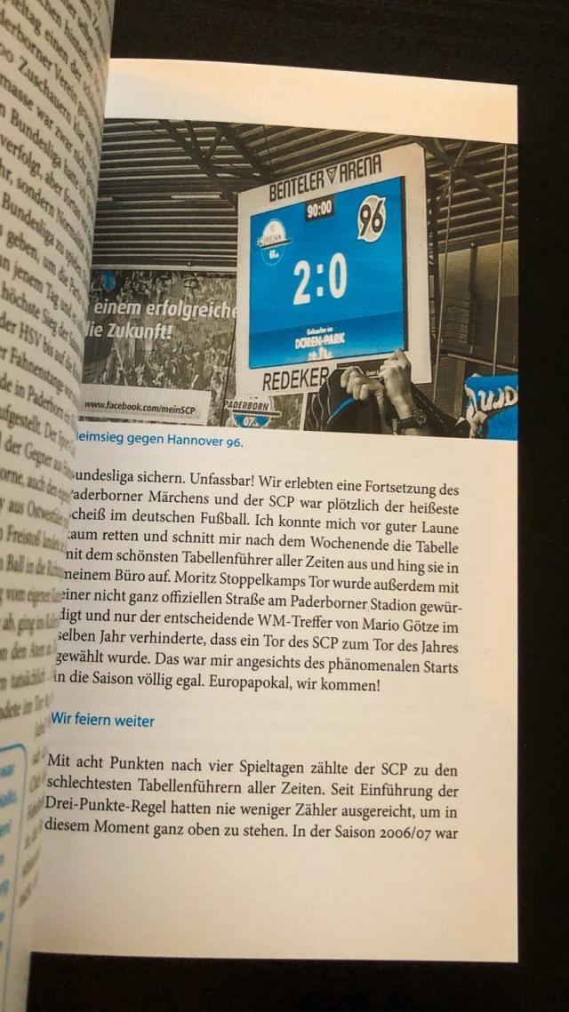 Eine kleine Leseprobe aus der Fußballfibel zum SC Paderborn 07